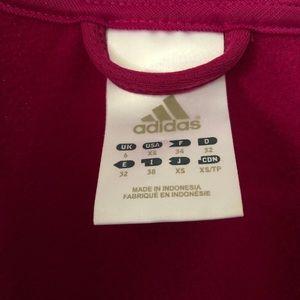 adidas Jackets & Coats - Adidas fuchsia pink full-zip athletic hoodie